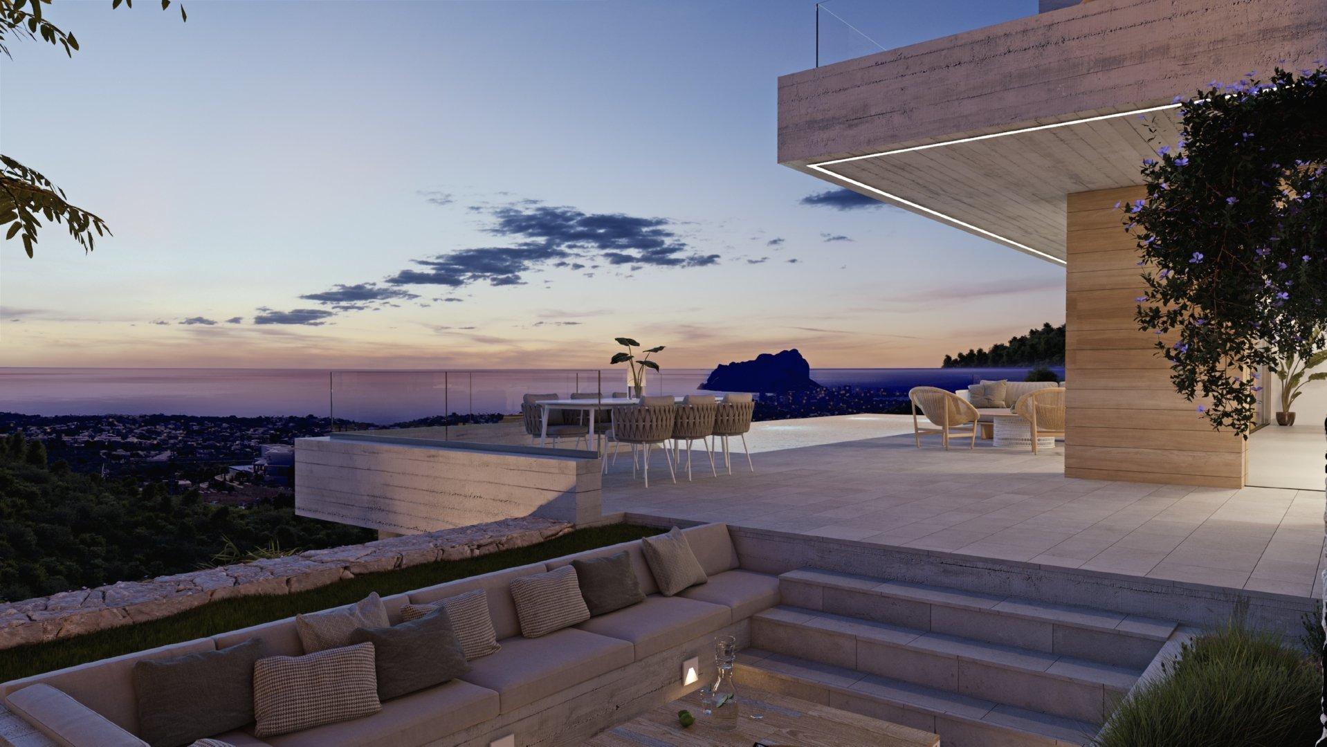 Moderne betonnen villa in Raco de Galeno