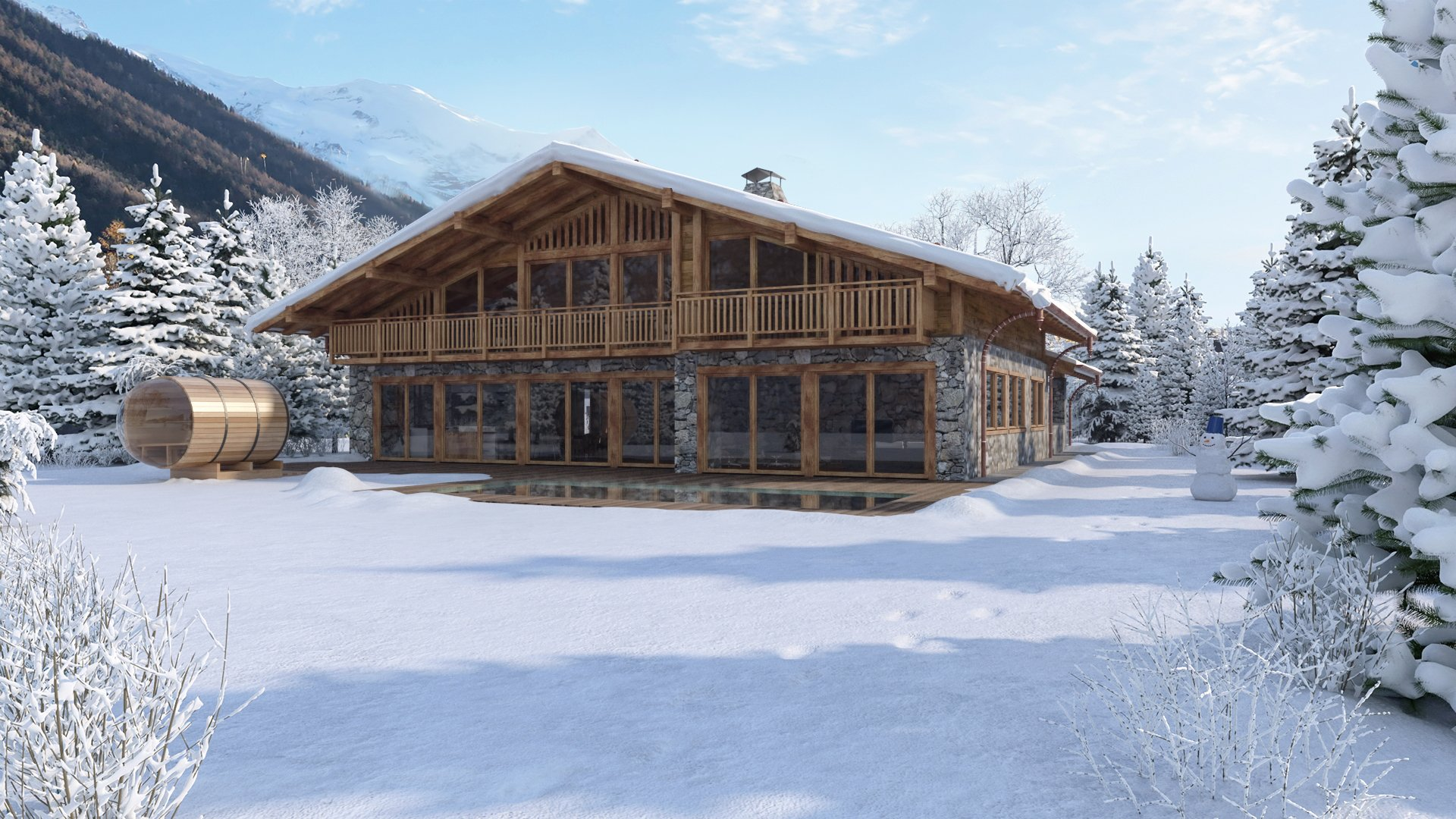 Chalet, walking distance of the center of Chamonix.