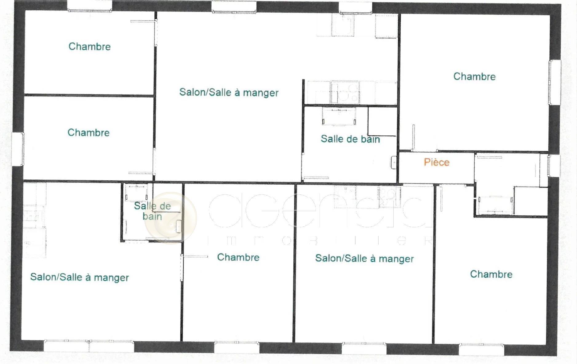 Villa de plain-pied  composée 3 appartements à Cipières