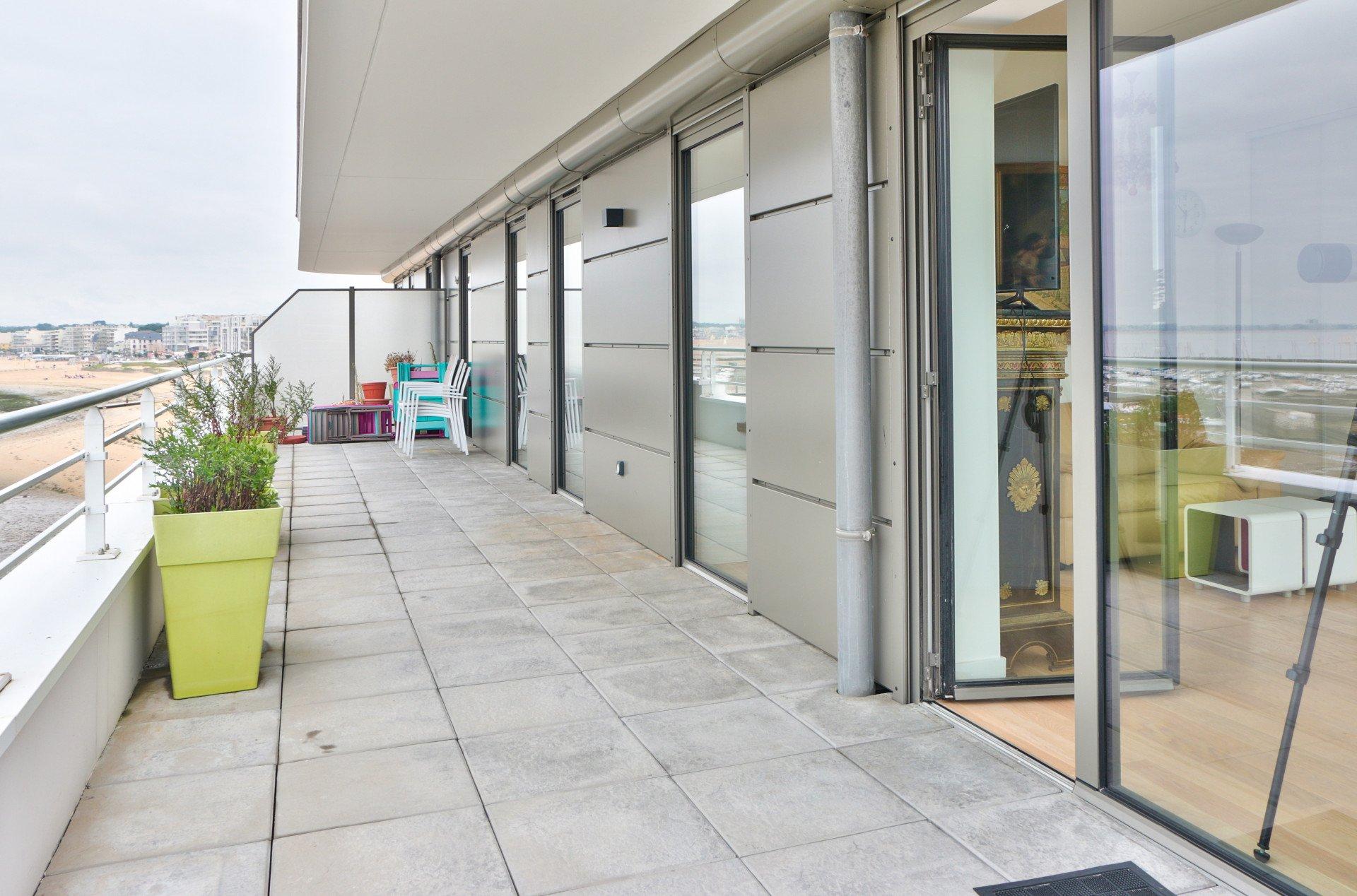 Appartement front de mer - terrasse