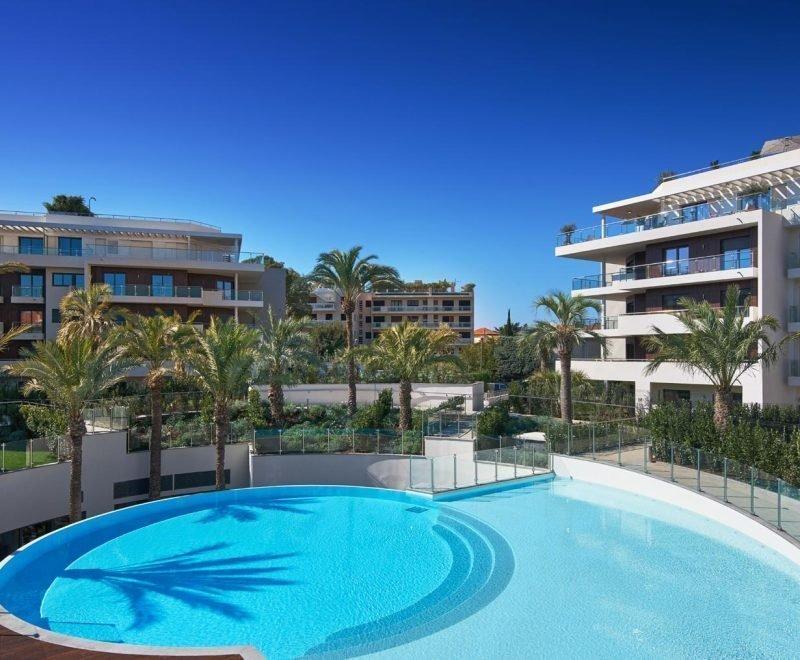 Cap d'Antibes -  Lekker ny 3-roms 100m2 leilighet med stor terrasse i eksepsjonell residens