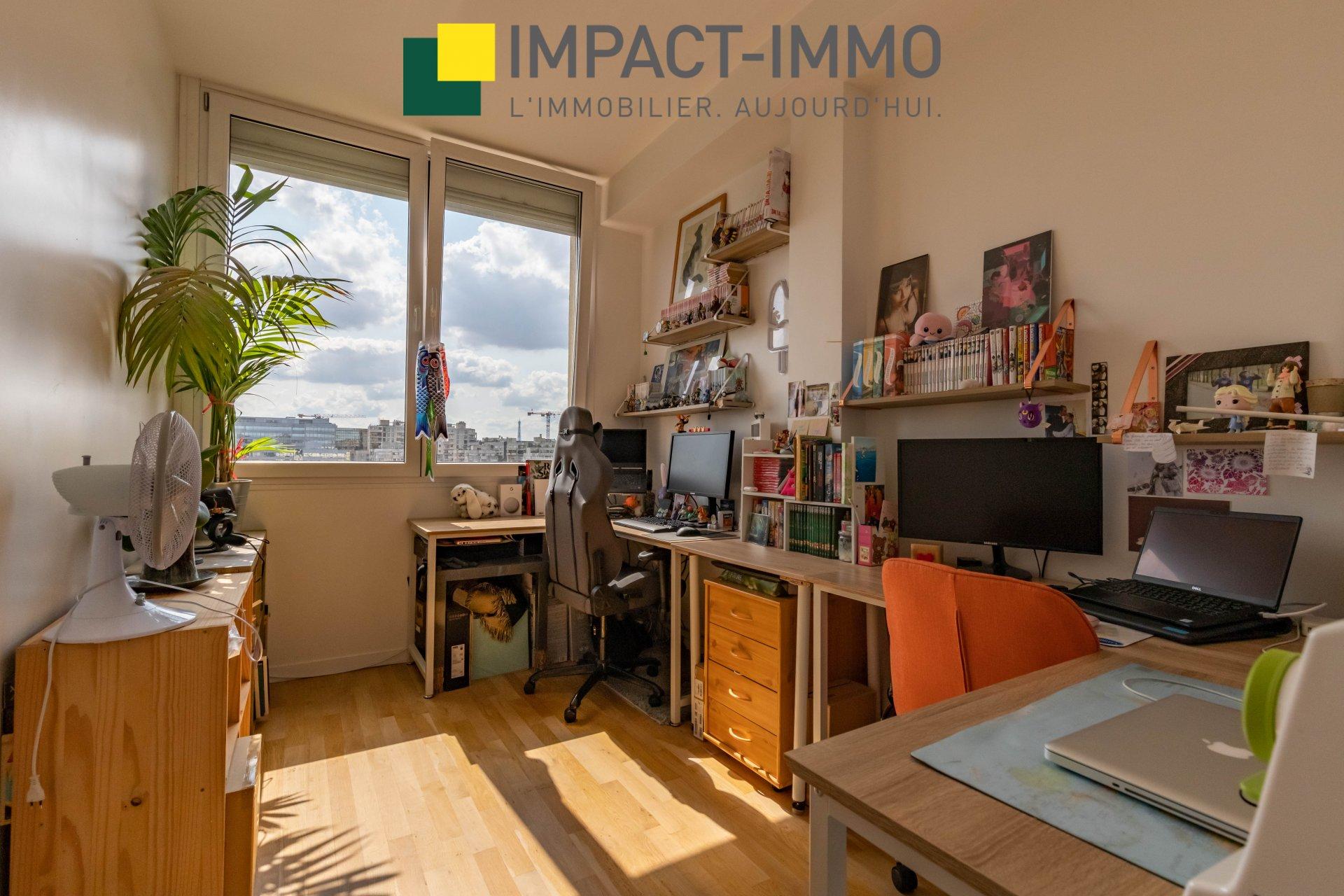 Appartement 3 pièces vue sur Seine