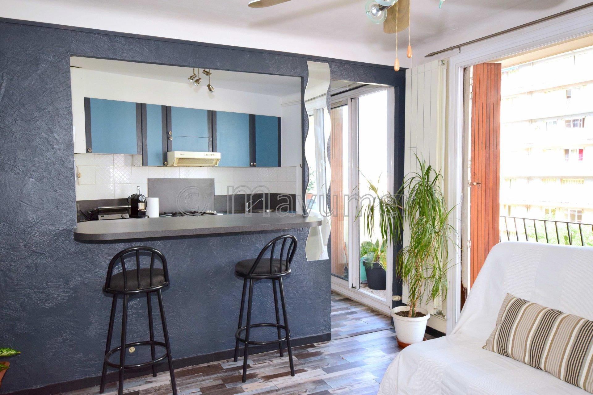 Appartement T3 - balcon vue mer - 13004 Marseille Les Chutes Lavie