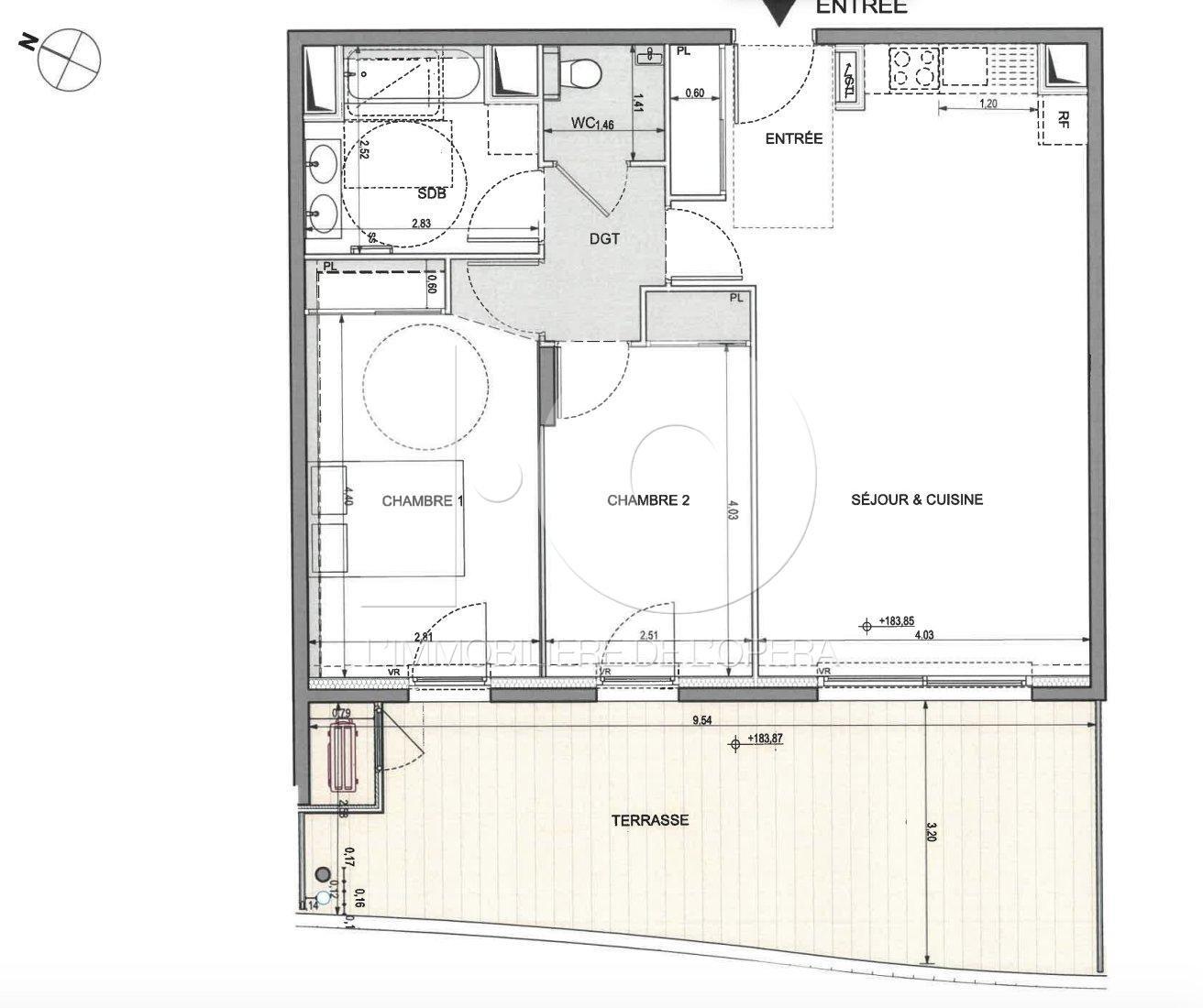 Nice -FABRON -Appartement 3 Pièces 69m2 + Terrasse 28 m2