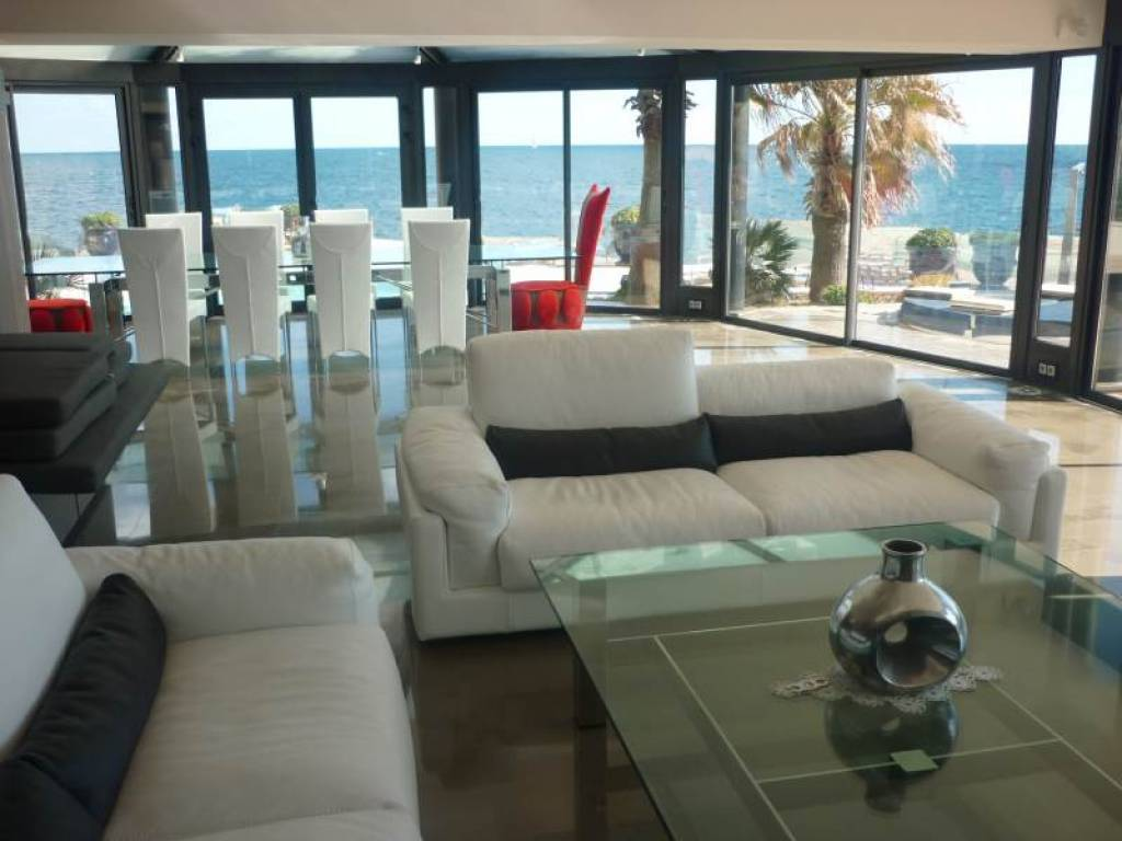 salon and living room with panoramic sea view