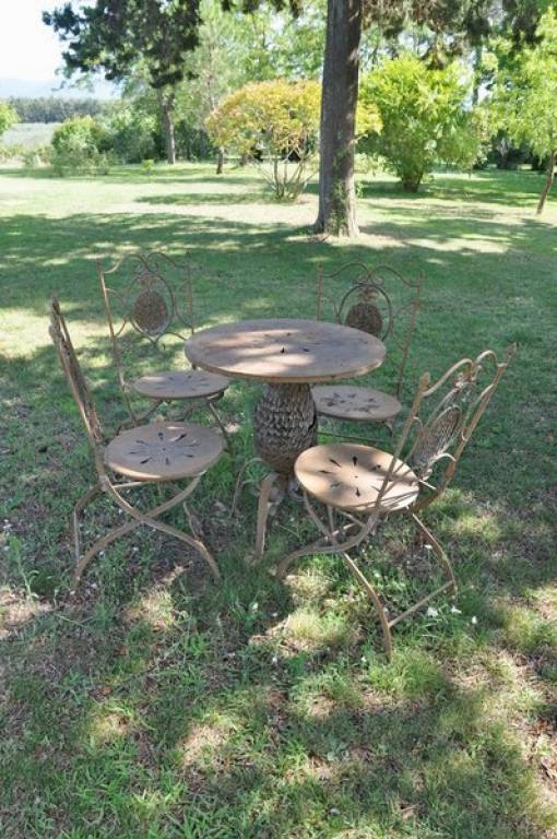 garden table on the lawn