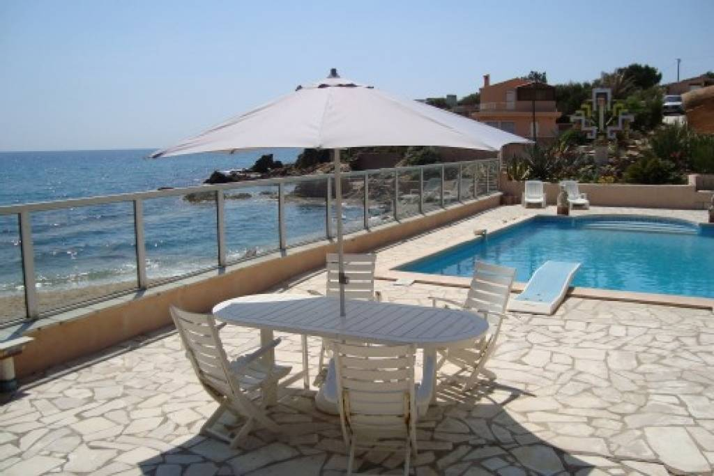 terrace and pool on sea side
