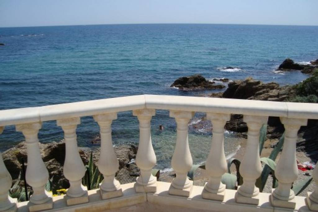 balusters on sea front