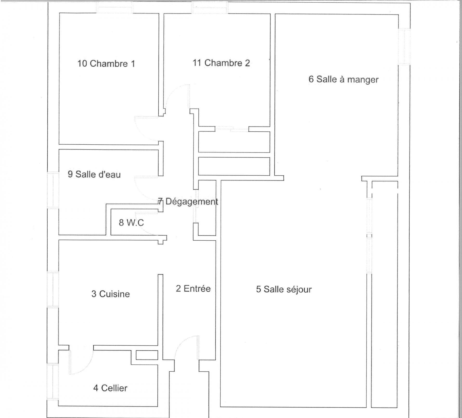 APPARTEMENT 88 m² HABITABLES AVEC BALCON ET PARKING