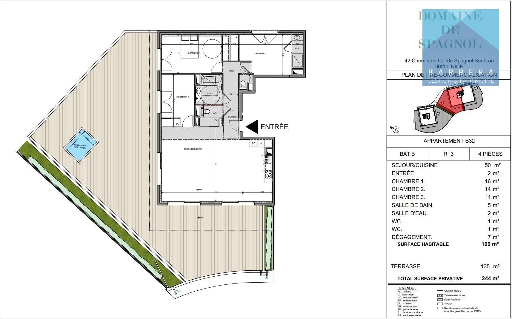 Vente appartement 110 m²