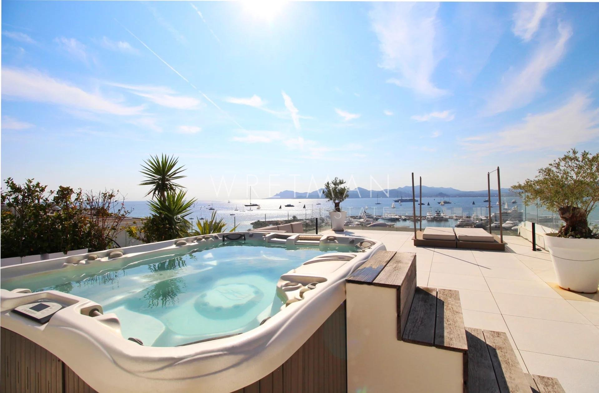 Exceptionell Penthouse med panoramisk havsutsikt - La Croisette Cannes