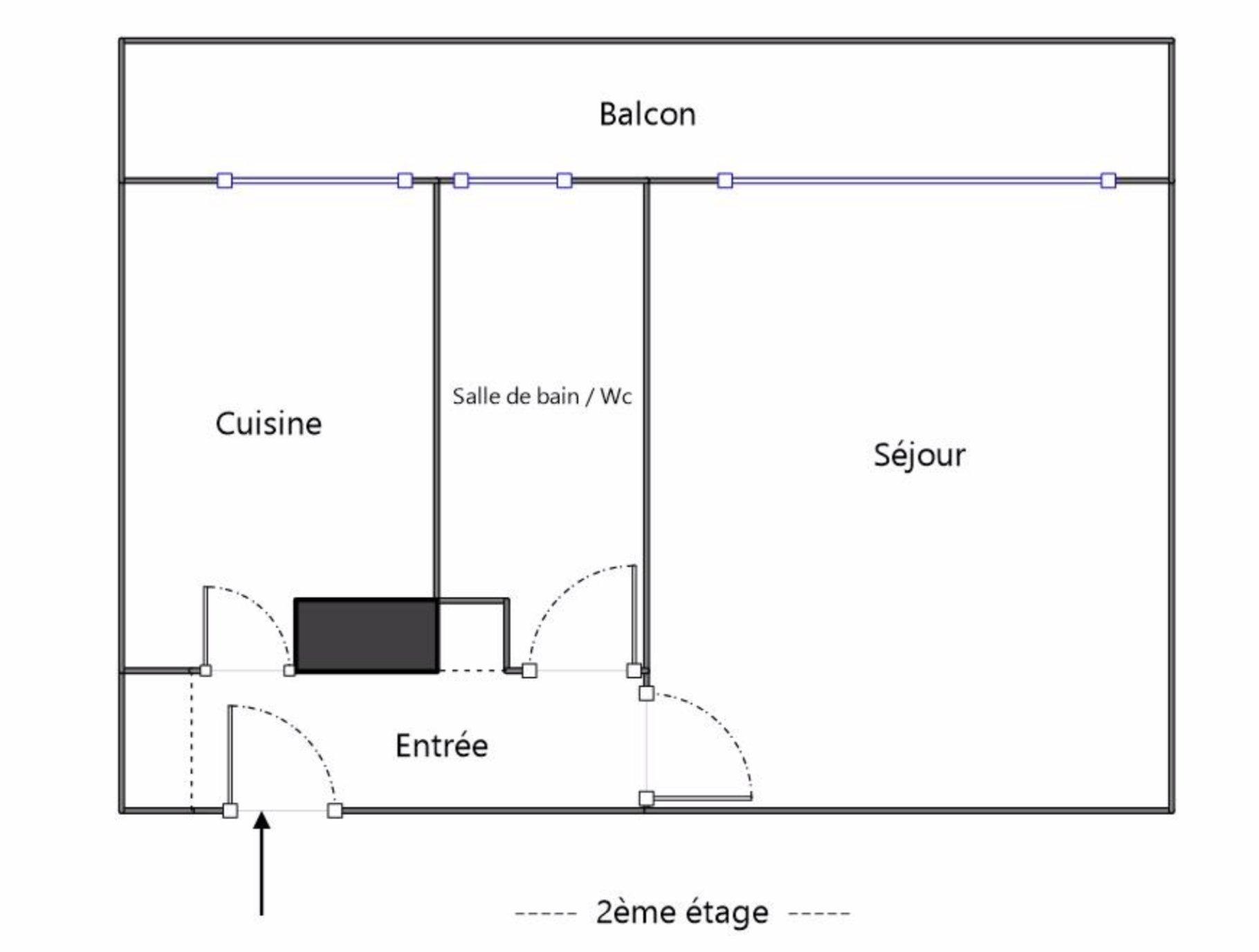 GRAND STUDIO AVEC BALCON ET PARKING AU METRO CORENTIN CELTON
