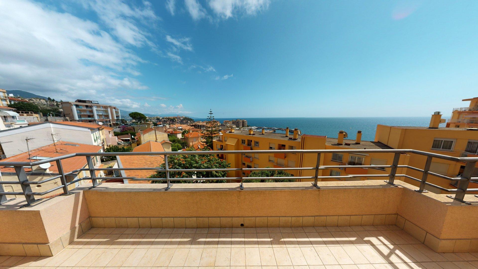 Cap d'Ail centre 4p terrasse vue mer