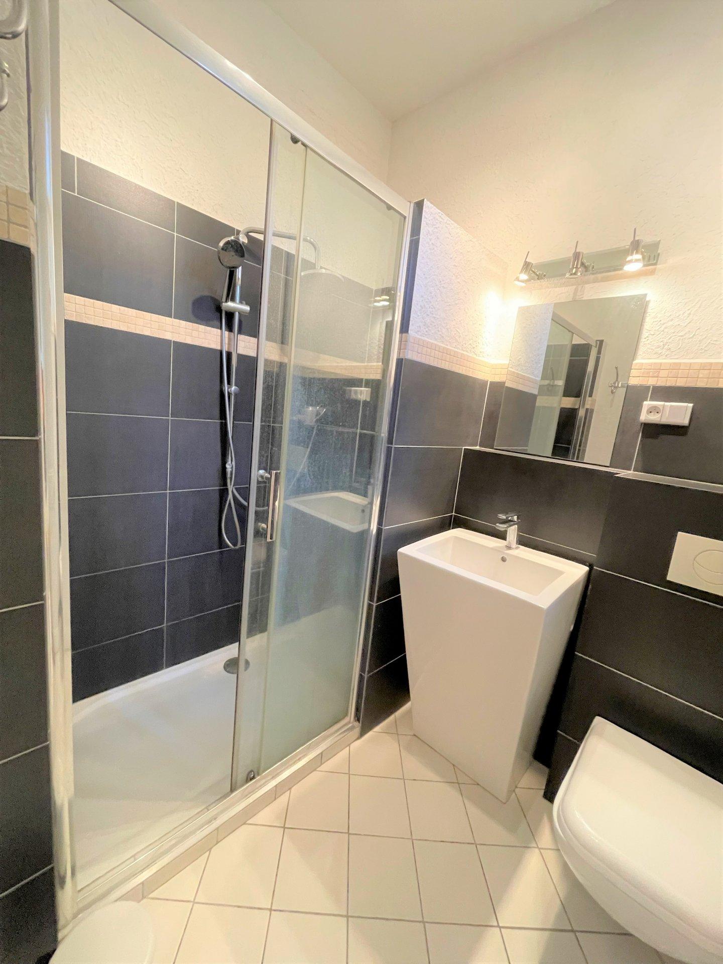 La salle d'eau avec jolie douche à l'italienne