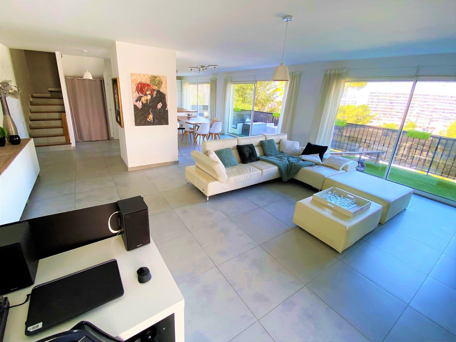 Maison standing, 135 m2, garage, terrasses