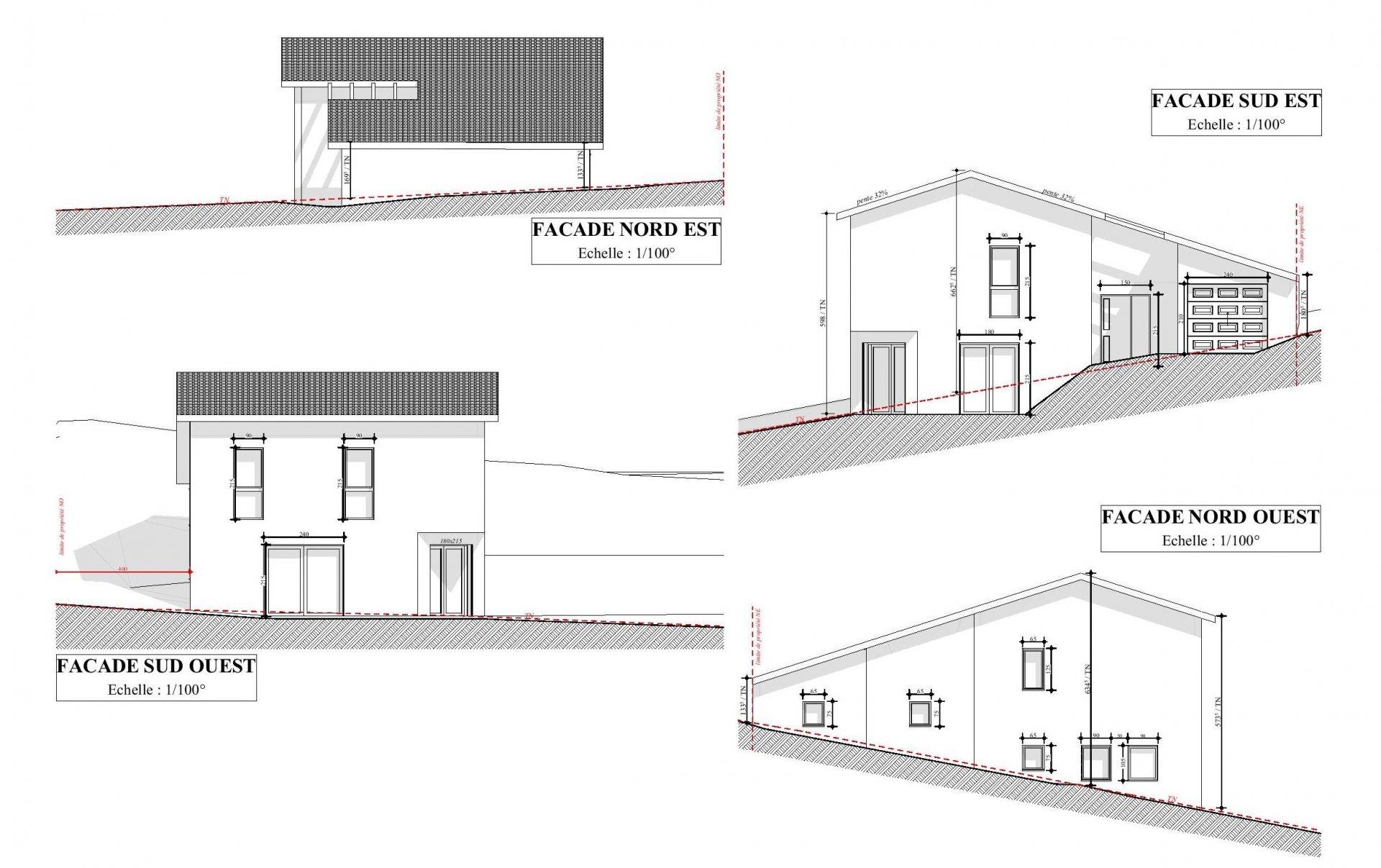 Maison neuve T4 + garage sur 528m2 de terrain