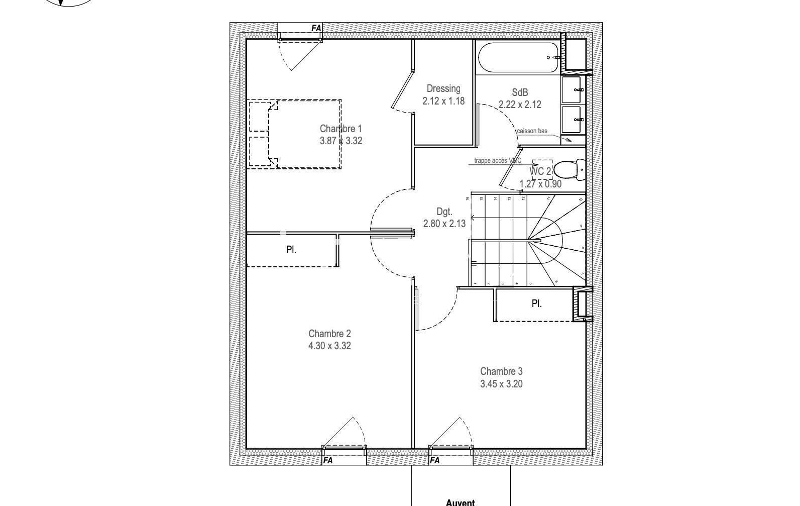 appartement de 103.17 m2 comprenant 4 pièces