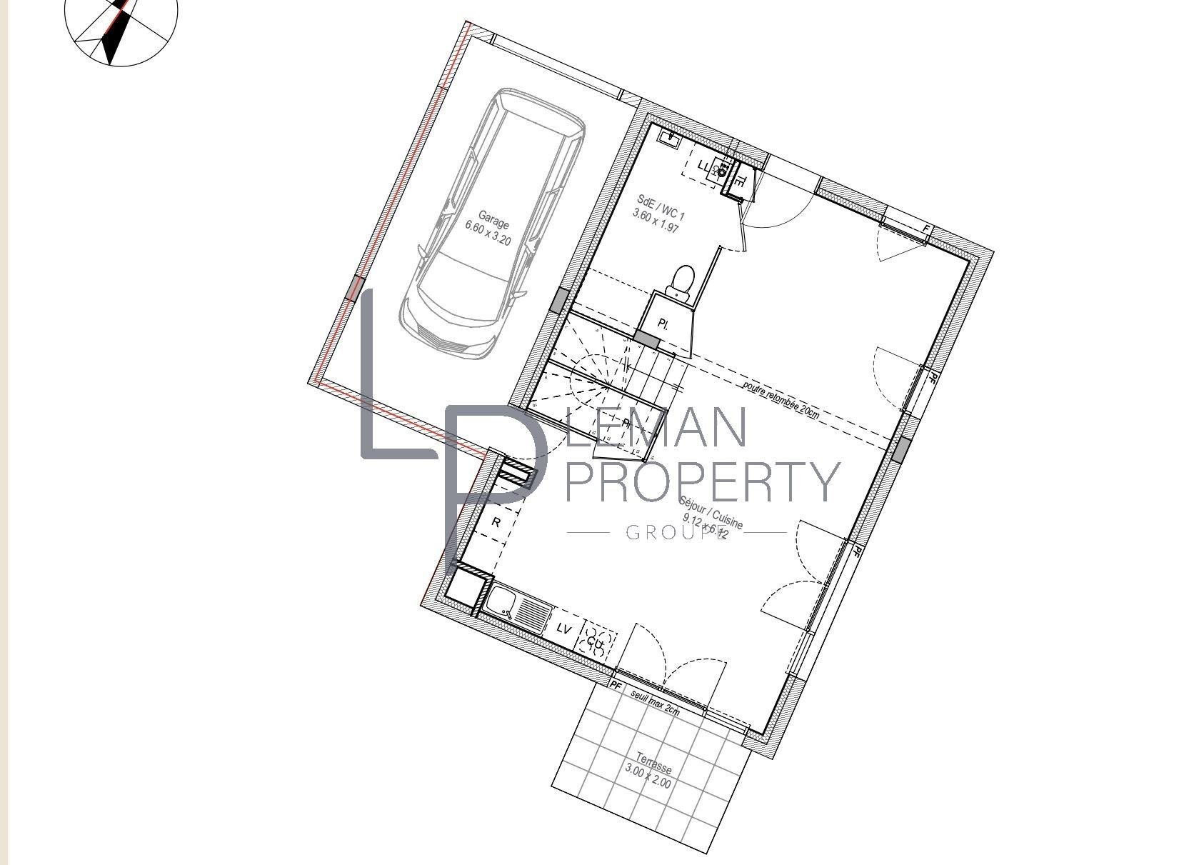Vente de appartement d'une surface de 101.81 m2