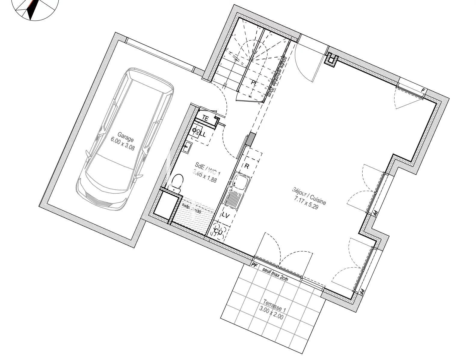 Vente de appartement d'une surface de 103.03 m2