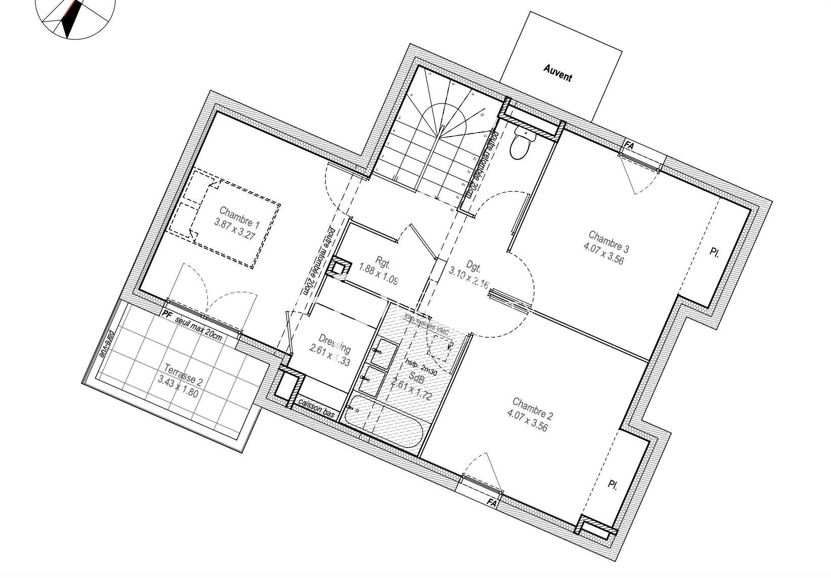 appartement de 103.03 m2 comprenant 4 pièces