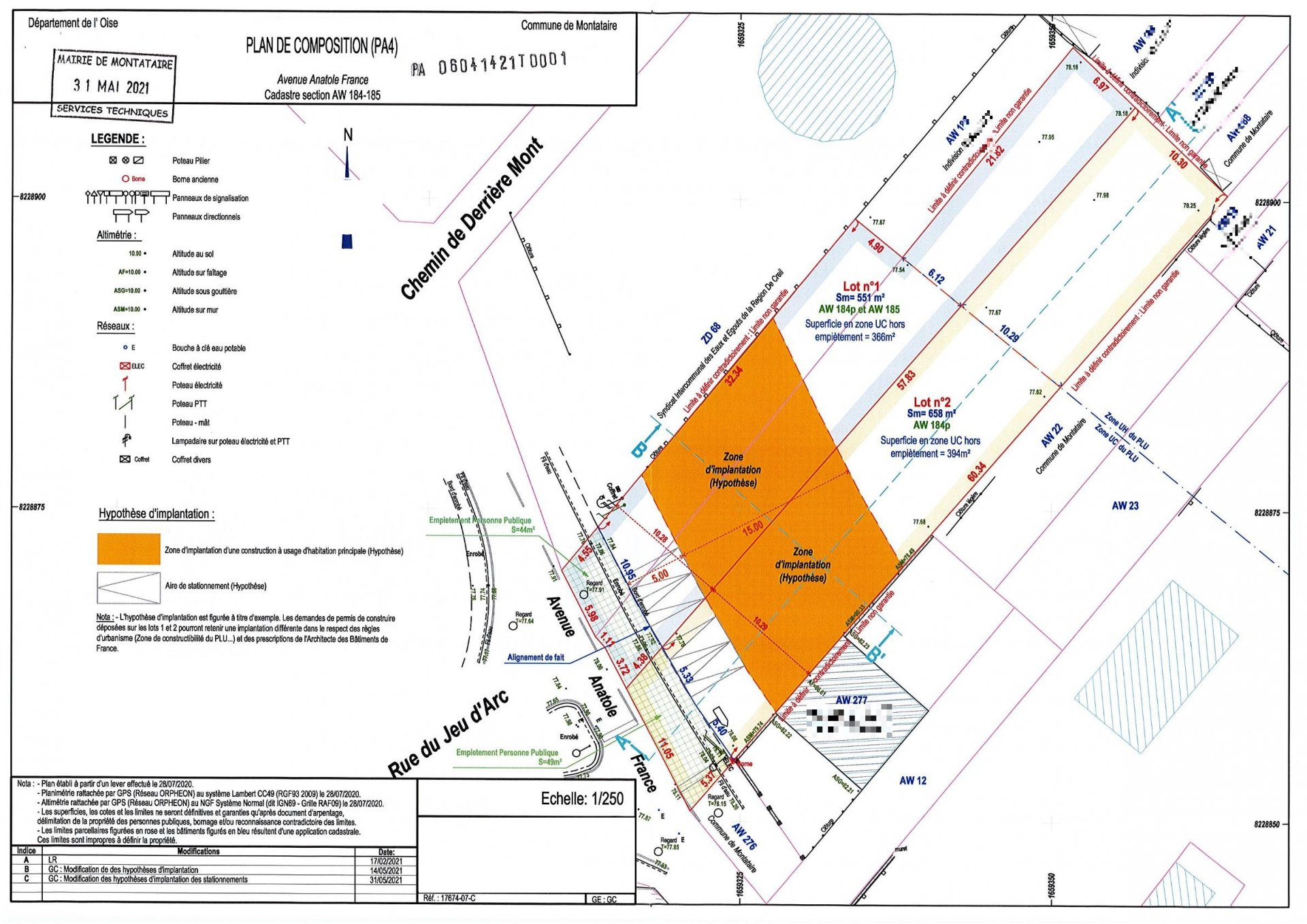 Terrain constructible 551m² à Montataire