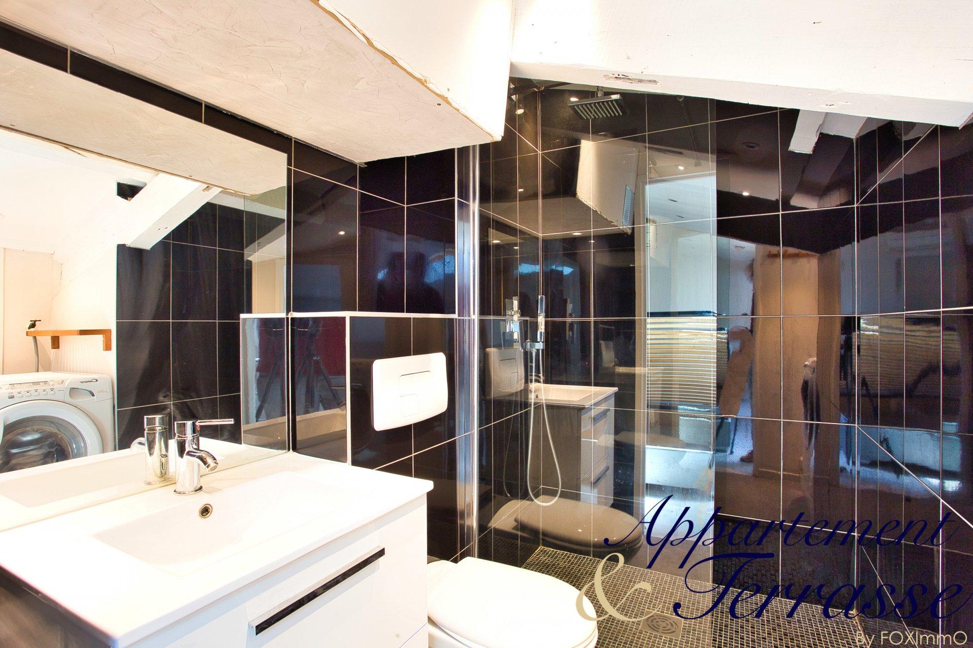 Sulla Costa Azzurra, superbo appartamento di 2 stanze con mezzanino all'ultimo piano, balcone, tranquillo, parcheggio