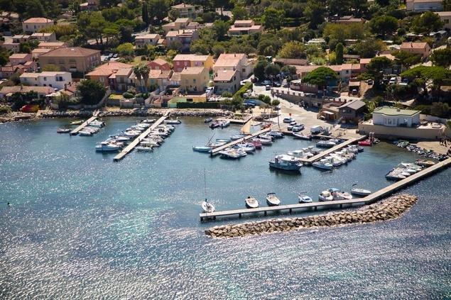 Maison de ville avec vue mer sur la presqu'île de Giens.