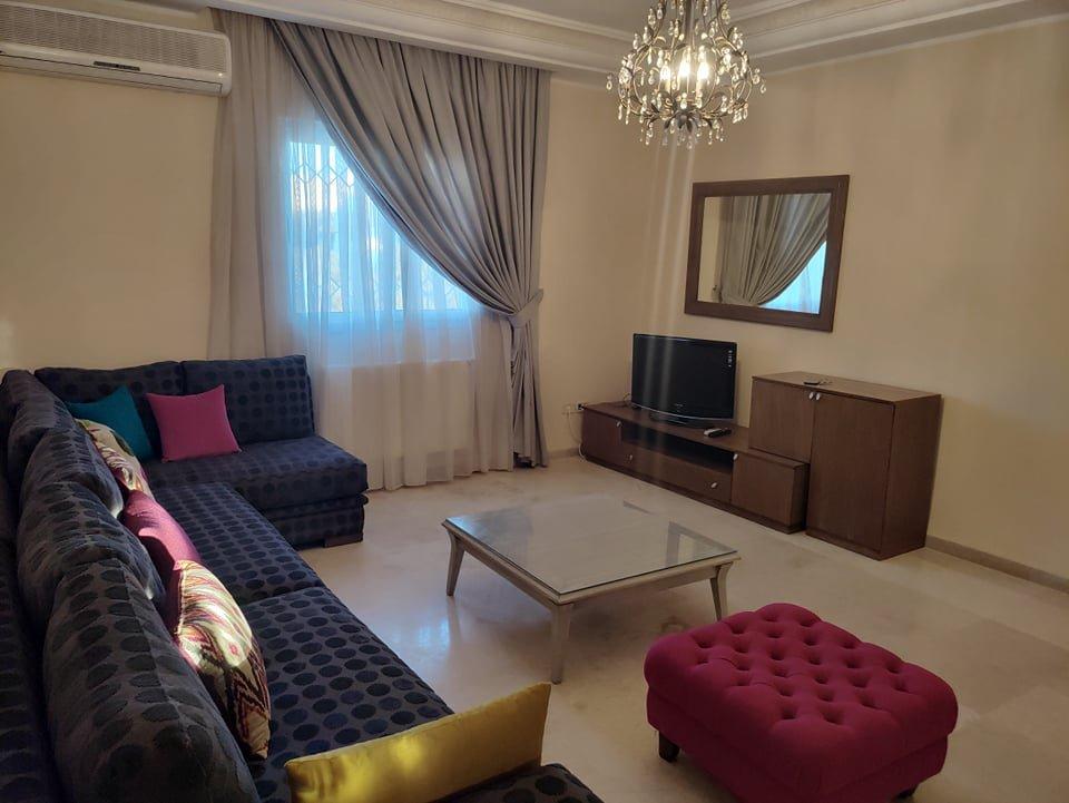 Location Appartement S+3 meublé à La Marsa Les Pins