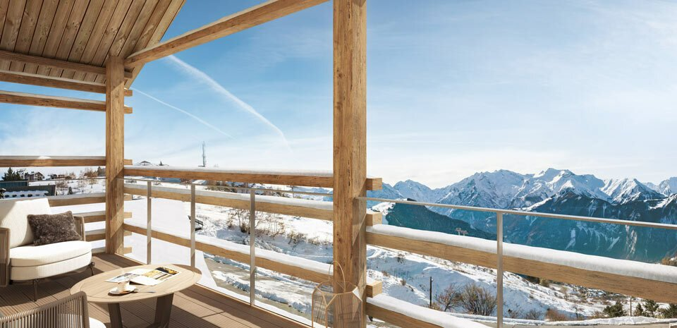 PERFECT 2 BEDROOMS IN THE NEW RESIDENCE LES FERMES DE L'ALPE