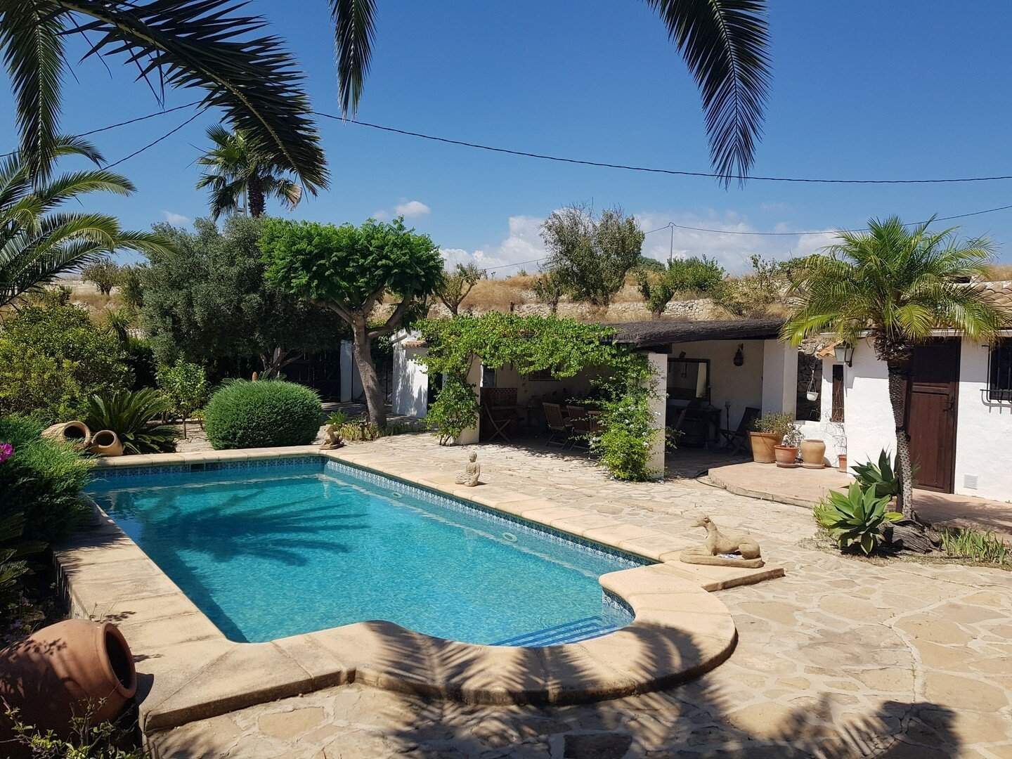 Beautiful finca with sea views for sale in Teulada