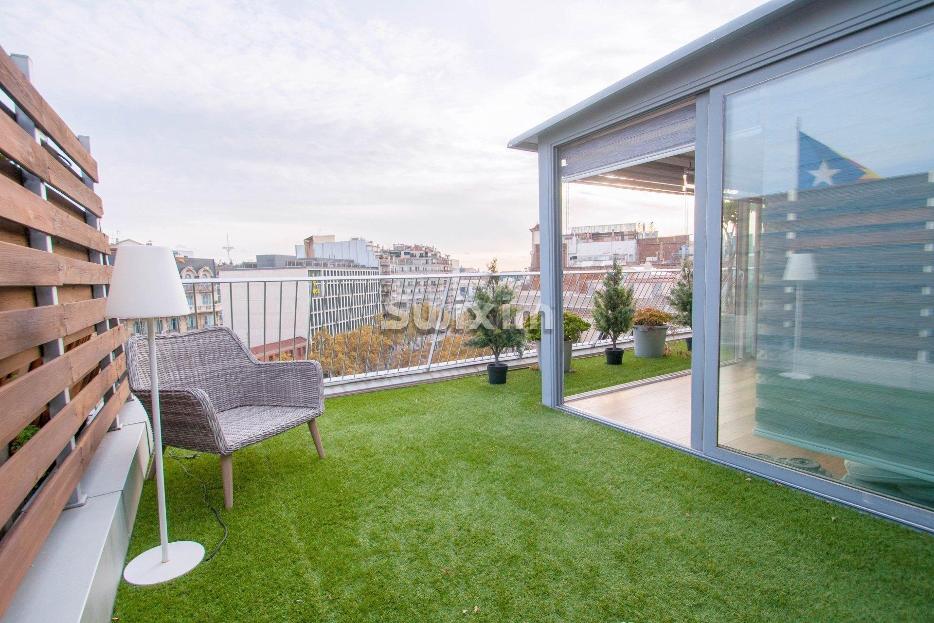 Penthouse en duplex avec vue imprenable sur la ville de Barcelone