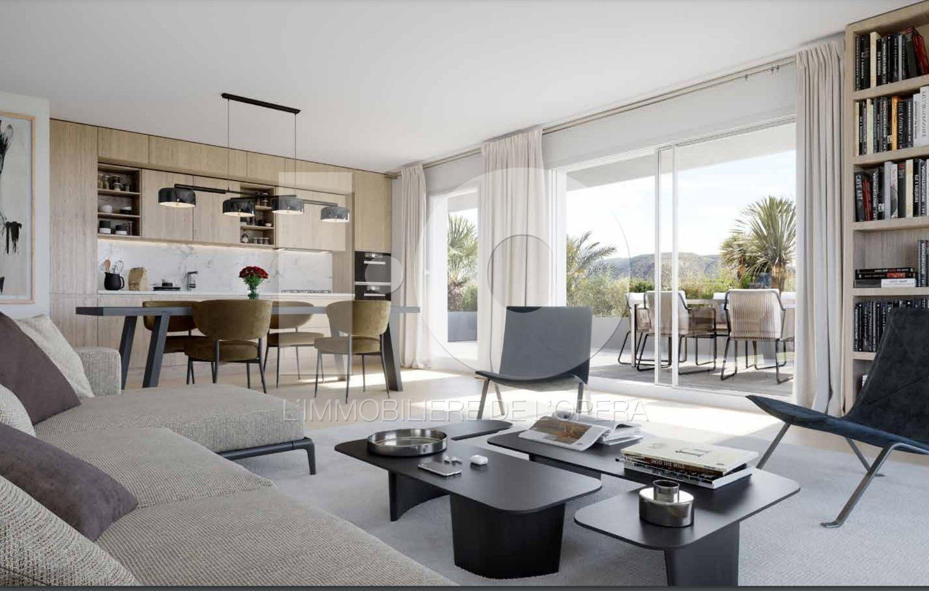 NICE  HAUT DE RIMIEZ- Appartement  2 Pièces de 41 m2 . Terrasse , Jardin
