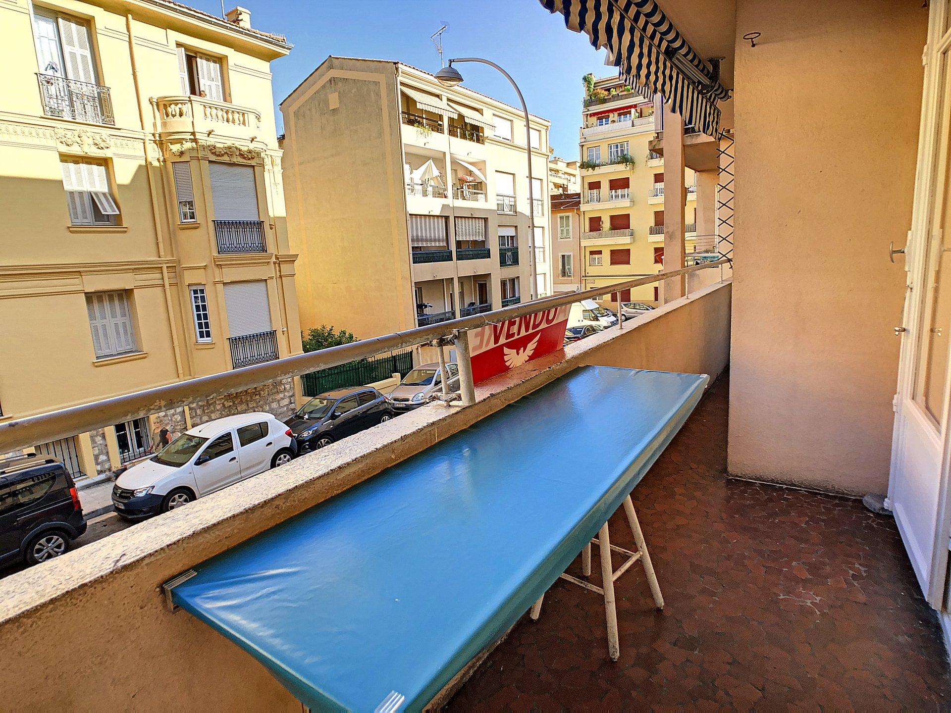 Nice 3/4 pièces large balcon - poss. Garage quartier Libération-Bas Cessole