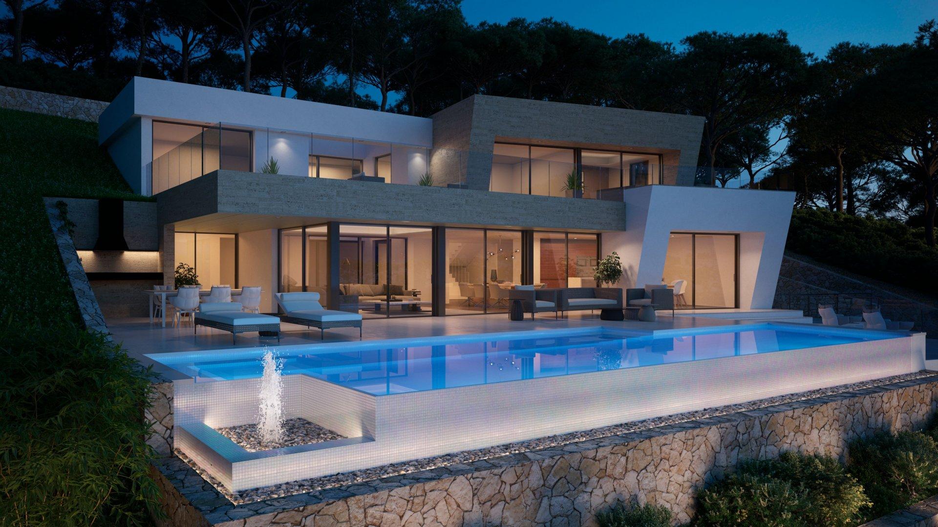 Luxe villa met prachtig uitzicht op zee in Jávea