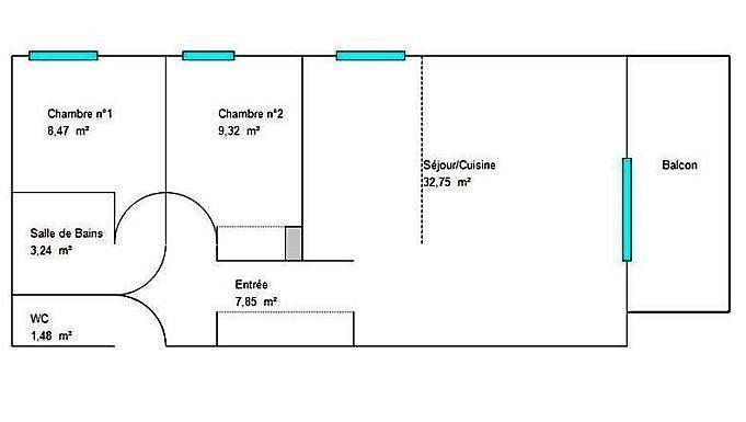 Location vide 3P Ste Marguerite avec garage