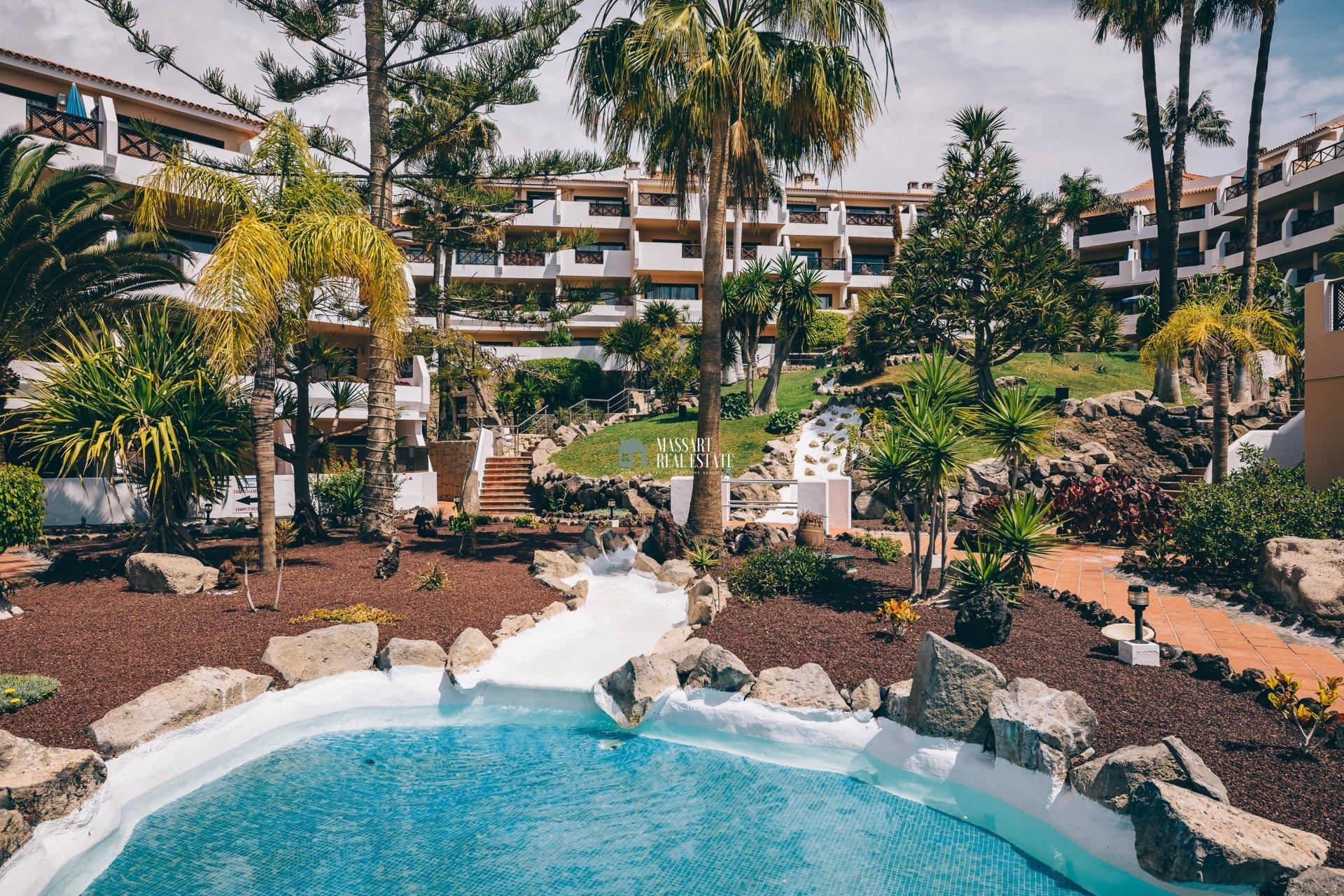 Gemeubileerde appartementen te koop in het wooncomplex Royal Park Albatros, in Golf del Sur.