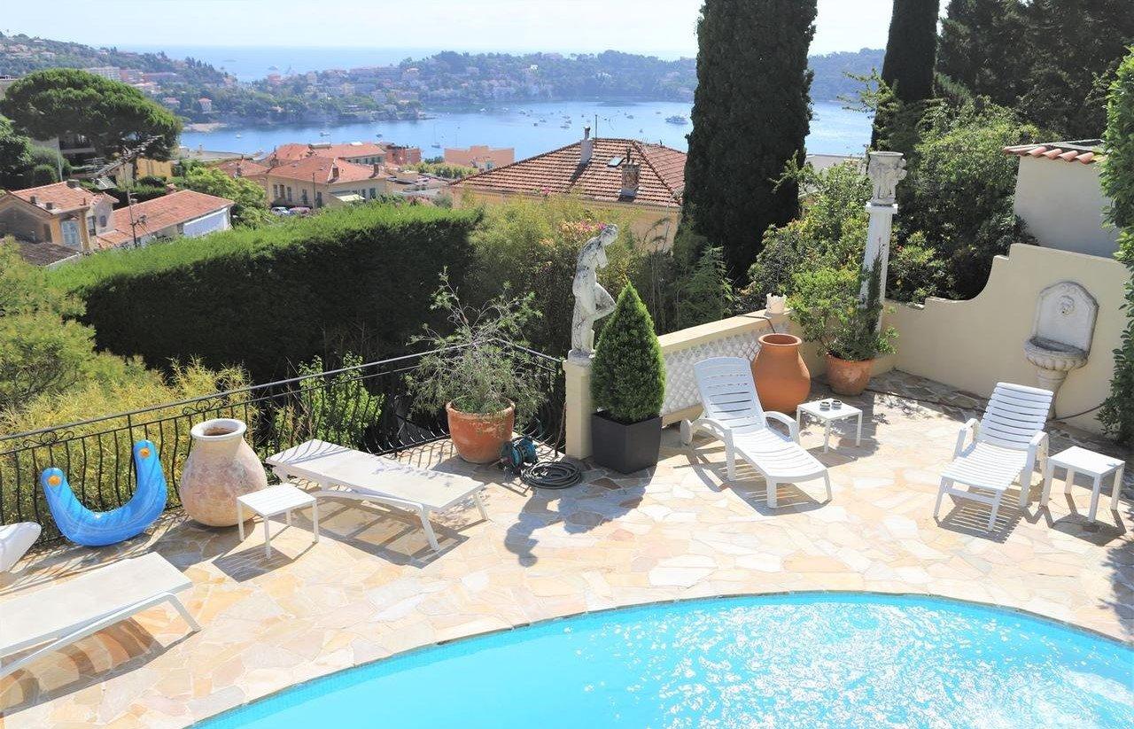 Villa bourgeoise avec piscine et vue panoramique mer - Villefranche-sur-Mer