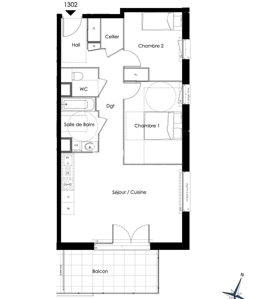 Vente de appartement à La Motte-Servolex au prix de 292000€