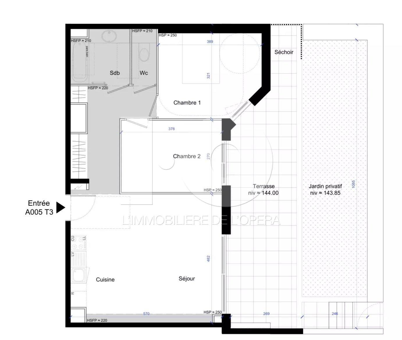 NICE GINESTIERE - Appartement 3 Pièces 65 m2  - Terrasse + Jardin
