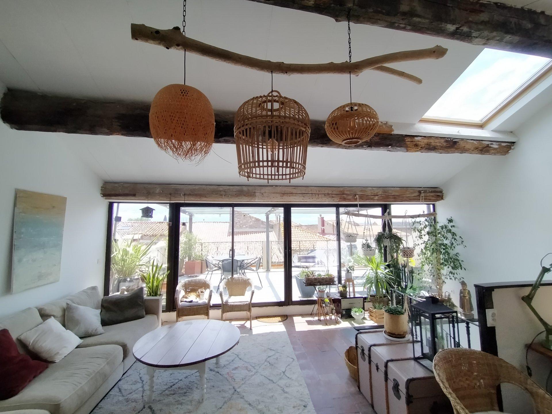 Maison de maître garage et terrasse