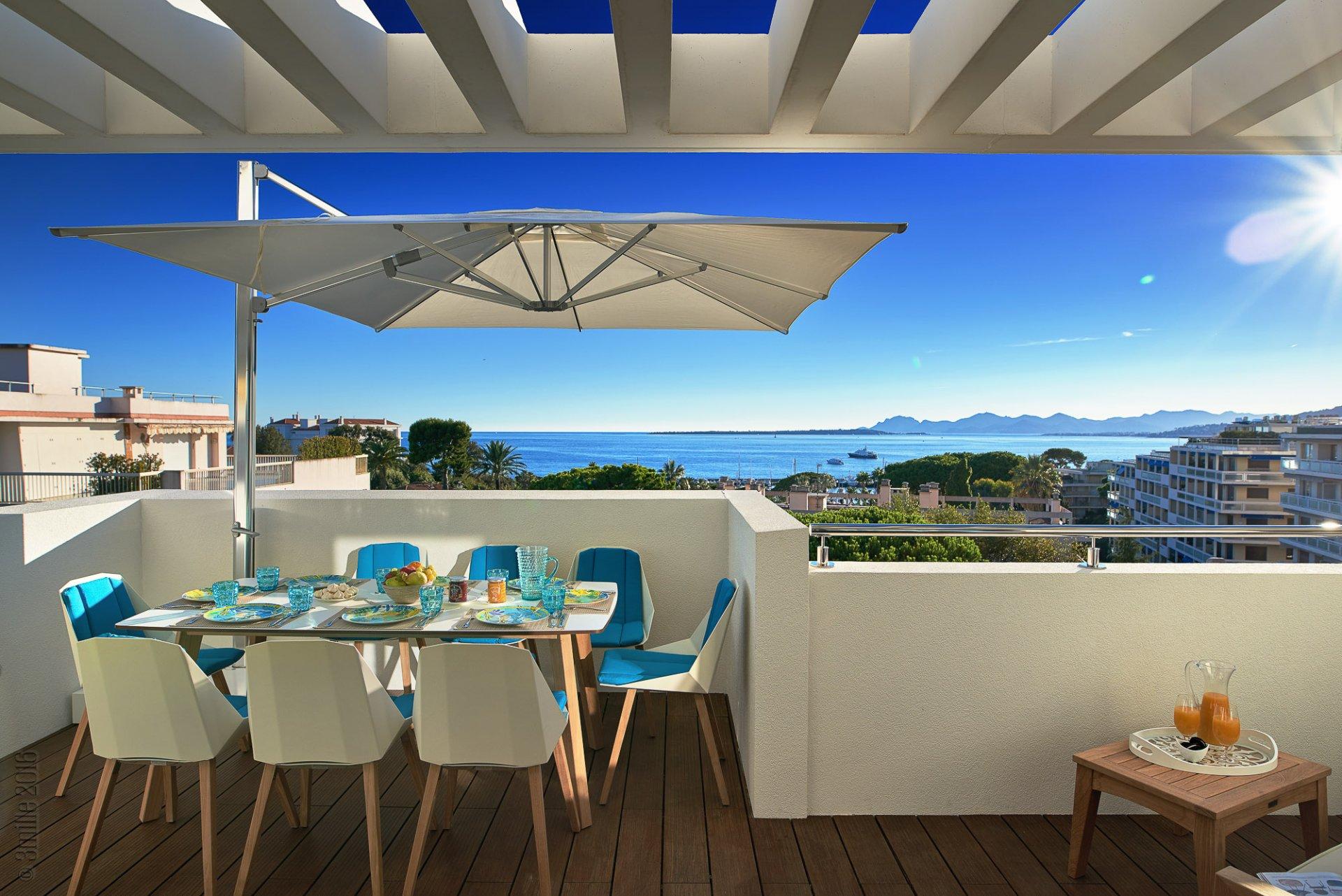 Cap d'Antibes - Eksepsjonell penthouse-leilighet i 5-stjernes ny residens.