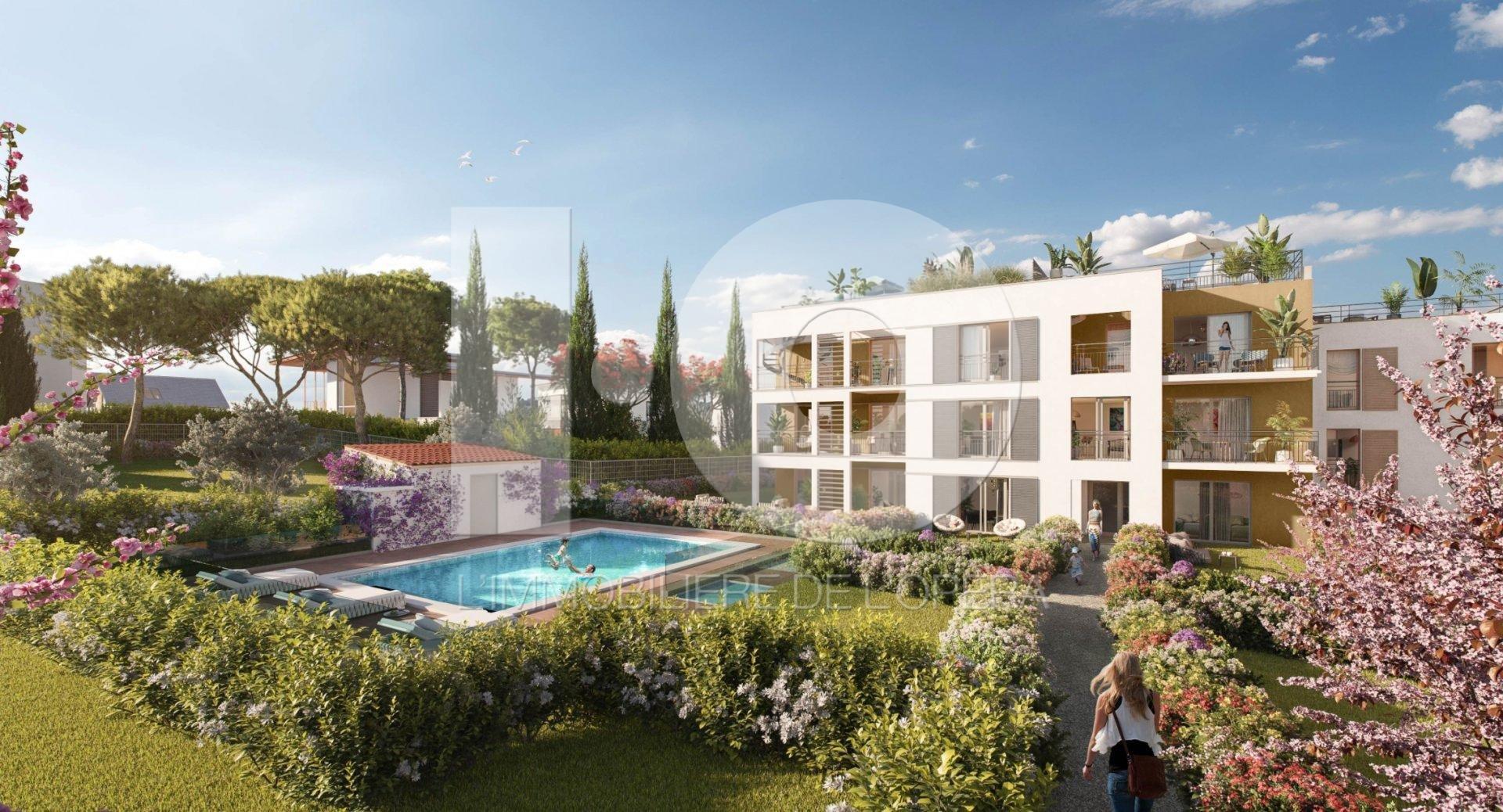 06600 ANTIBES - Appartement de 4 pièces en rez de jardin