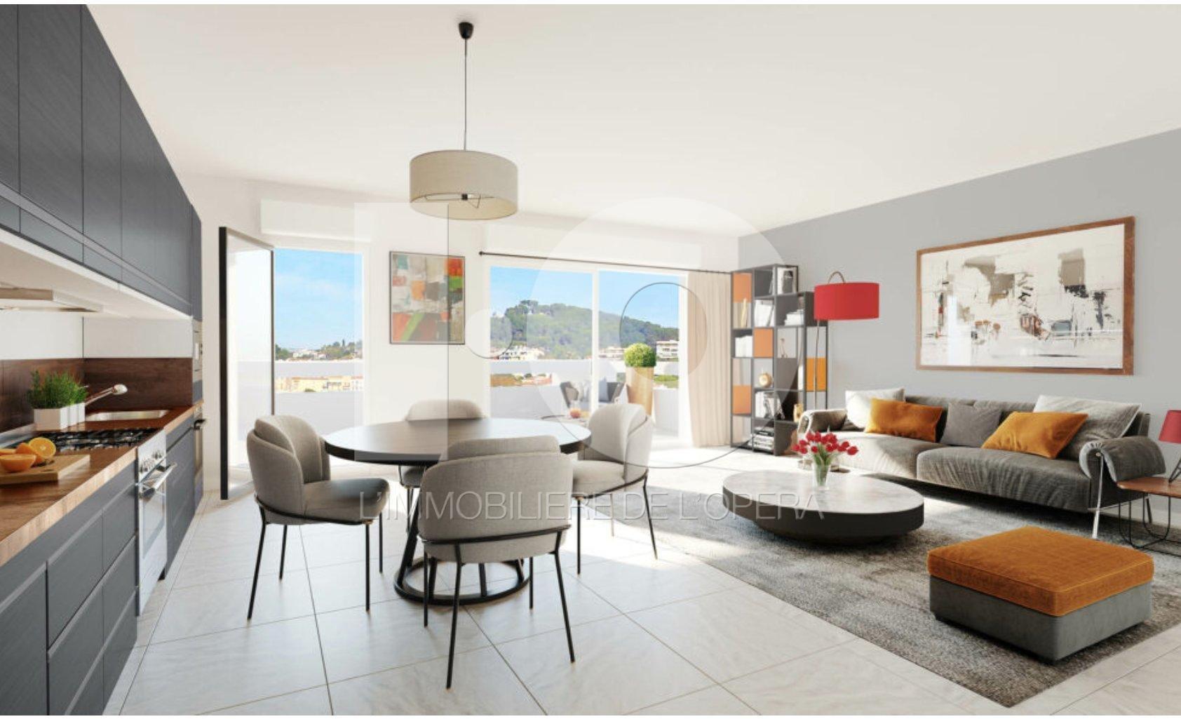 06600 ANTIBES - Appartement de 3 pièces en dernier étage VUE PANORAMIQUE
