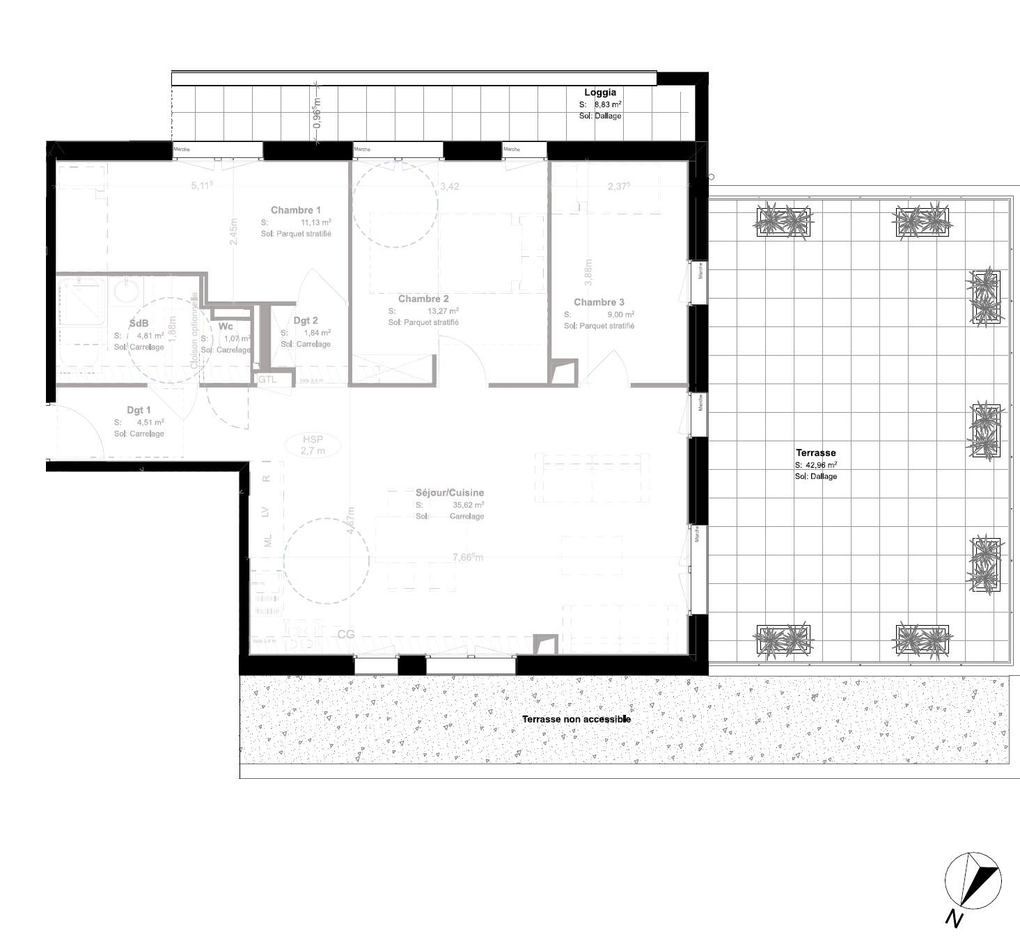APPARTEMENT T4  - ANSE