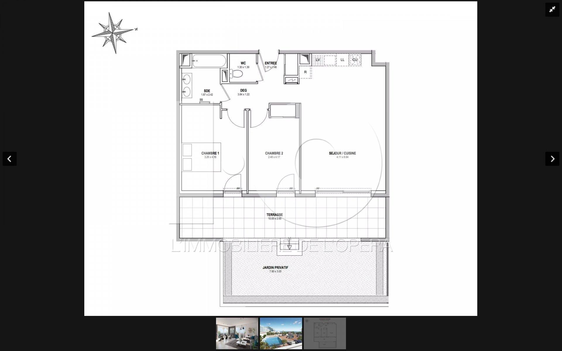 06 VILLENEUVE LOUBET - SUPERBE Appartement 3 pièces