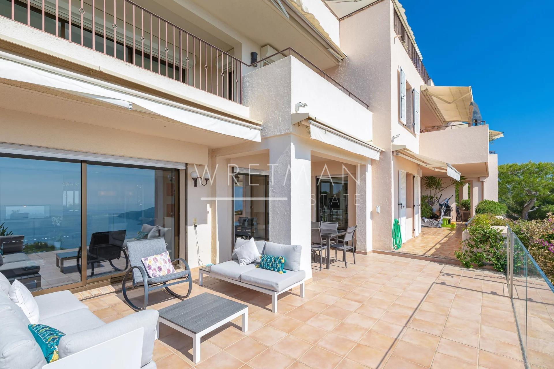 Lyxig lägenhet med terrass och panormautsikt över havet - Villefranche-sur-Mer