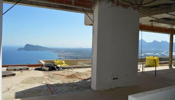Nieuw luxe villaproject in Altea Hills in aanbouw