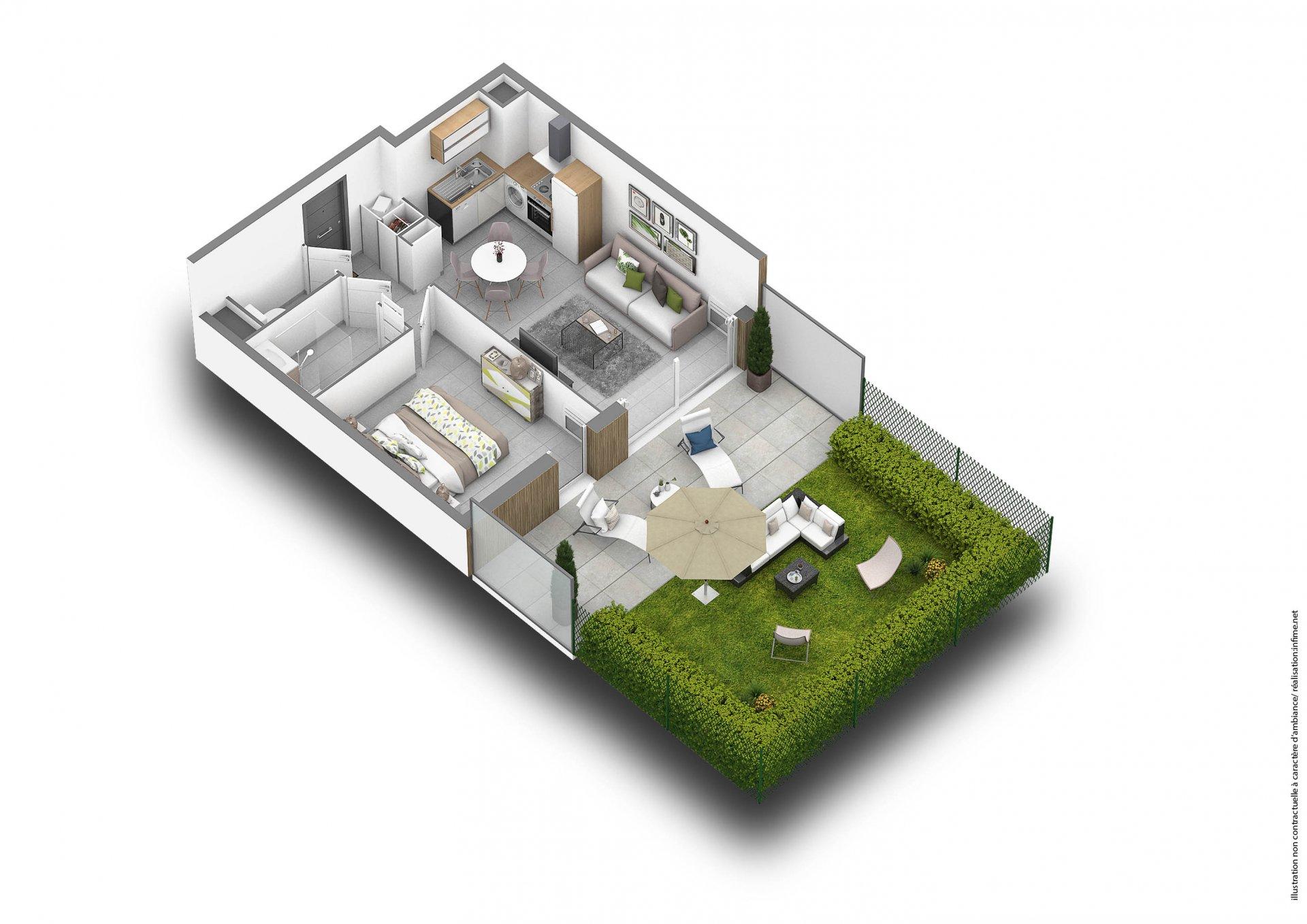 Appartement au rez de jardin à Frejus