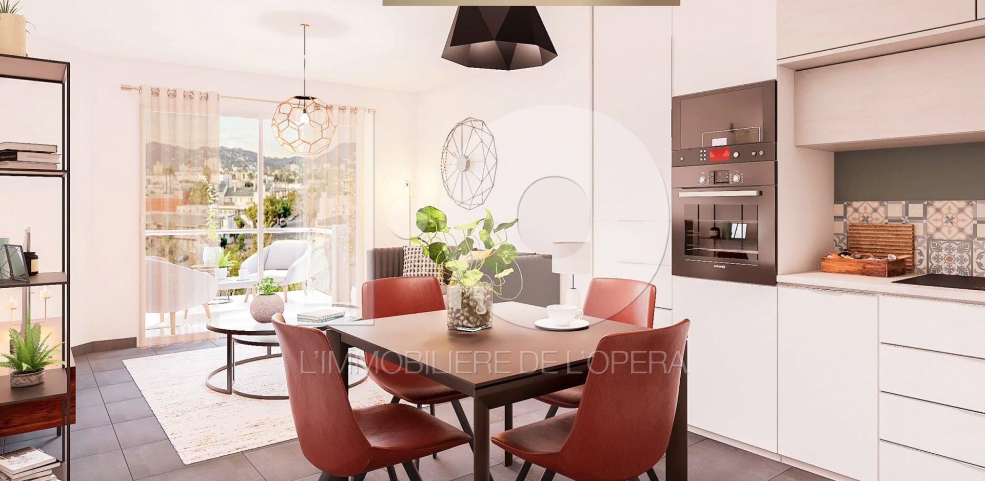 NICE CESSOLE- Appartement 3 Pièces de 63m2 avec Terrasse