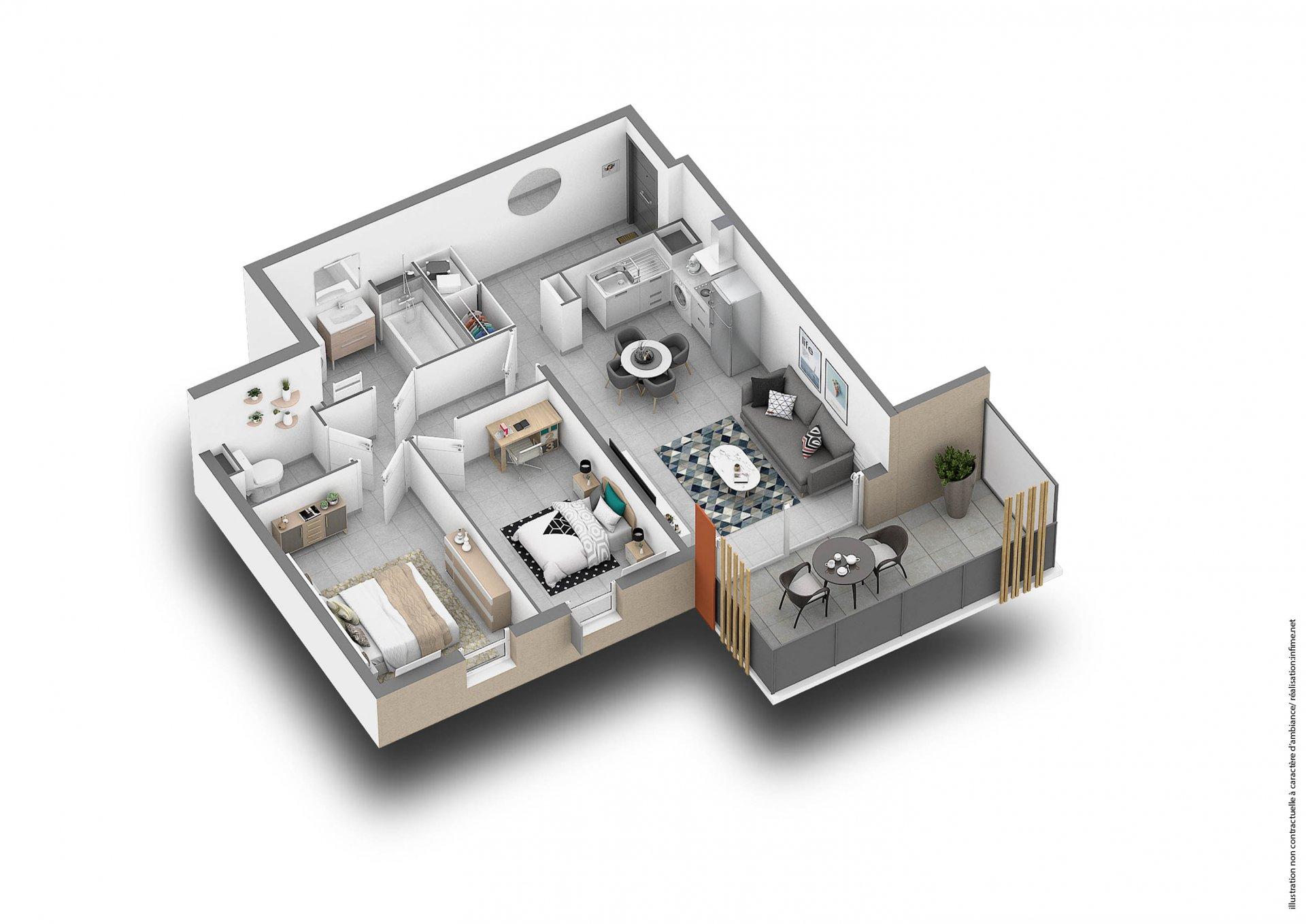 Appartement de 3 p à FREJUS